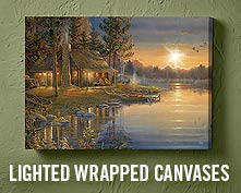 Lighted Wrapped Canvases