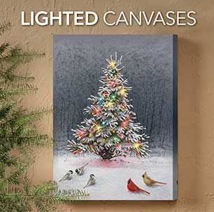 Lighted Wrapped Canvas