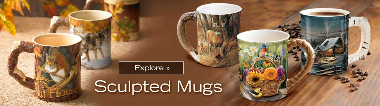 Sculpted Mugs