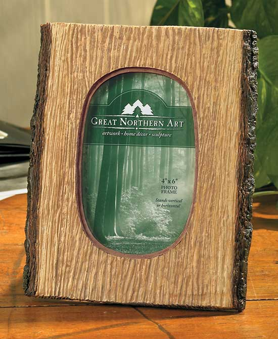 4209064501: Rustic Timber Picture Frame