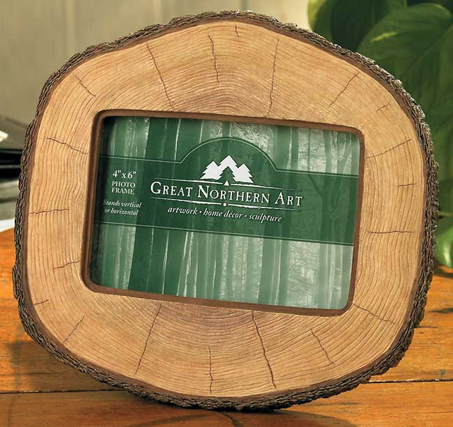 4209065501:Cut Log Picture Frame