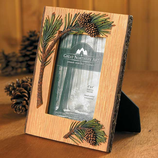 4209602691: Pinecone Picture Frame