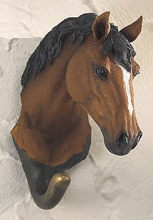 5598862510: Bay Horse Wall Hook