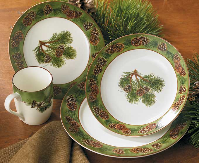 8955209101IG: Pinecone Dinnerware Collection