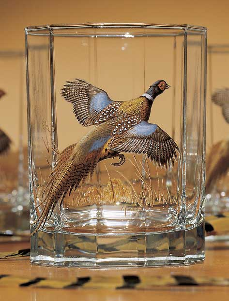 8722622502: Pheasant Double Old Fashioned Glasses (Set of 4)
