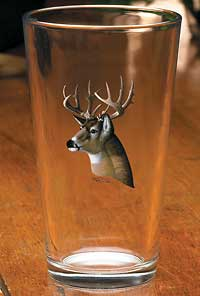 8722706506: Whitetail Deer Portrait Mixer Glasses (Set of 4)