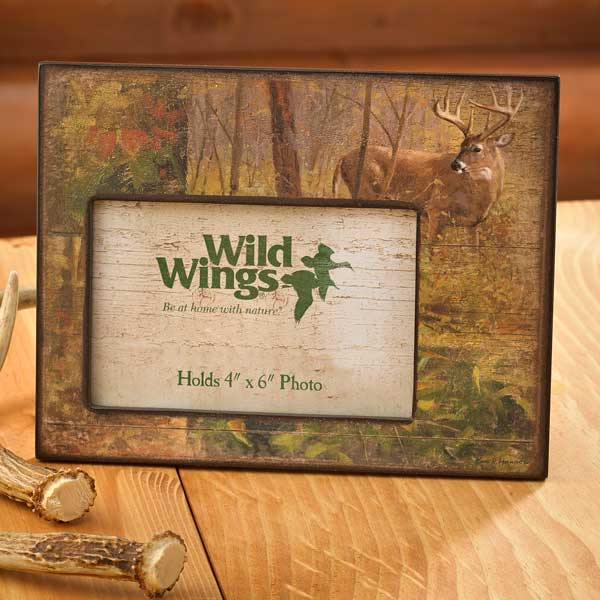 4373231565: Fall—Whitetail Deer Scenic Picture Frame