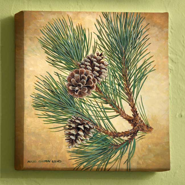F925236191:&nbsp;<i>Fruits of the Red Pine I;&nbsp;</i> Wrapped Canvas
