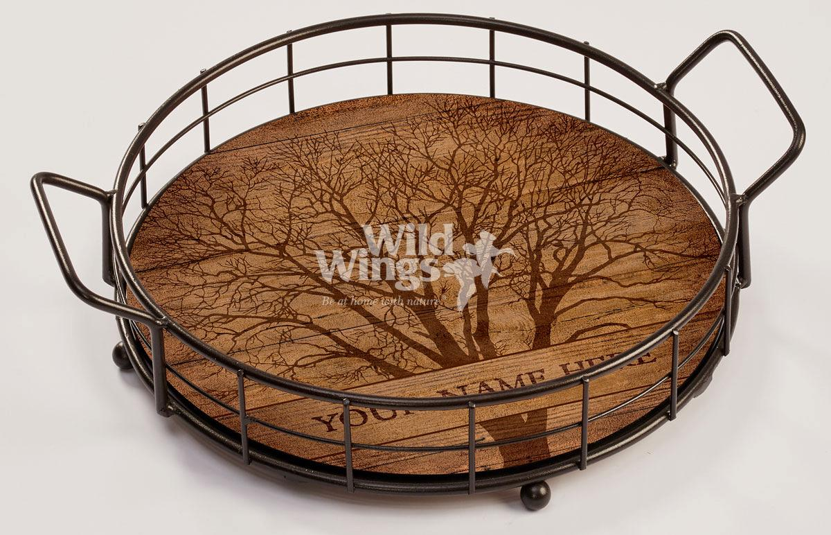 4209102001P: Among Trees Personalized Serving Tray