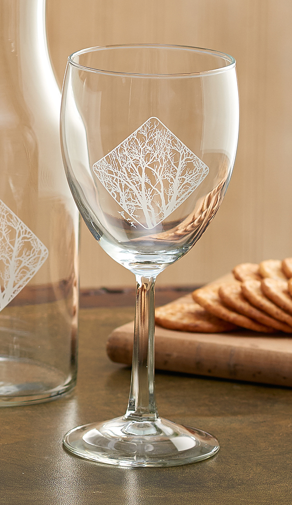 8722709004: Among the Trees White Wine Glasses (Set of 4)