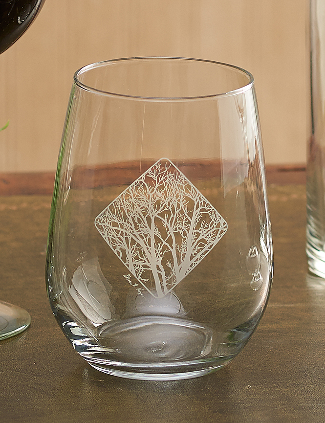 8722709005: Among the Trees Stemless Wine Glasses (Set of 4)