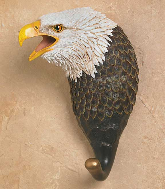5598862509: Bald Eagle Wall Hook
