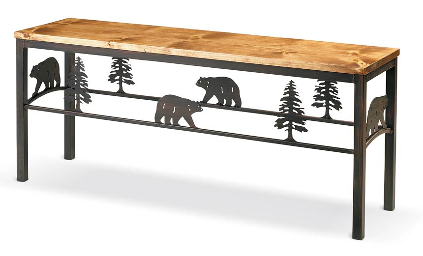 5177067501: Bear & Pine Tree Bench