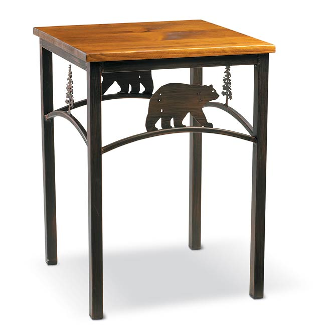 5177067502: Bear and Pine Tree Side Table