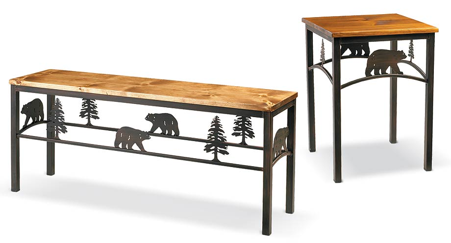 5177067501IG: Bear and Pine Tree Table Collection