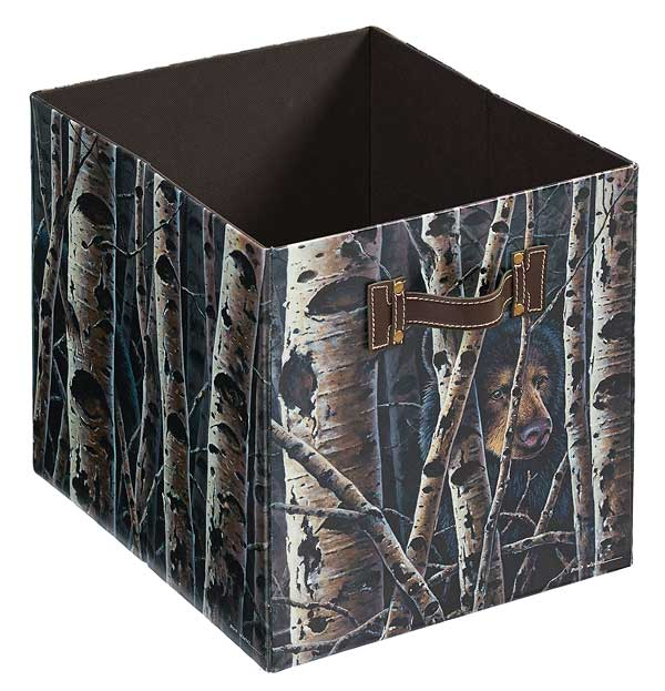 4084003007: Black Bear Folding Storage Bin
