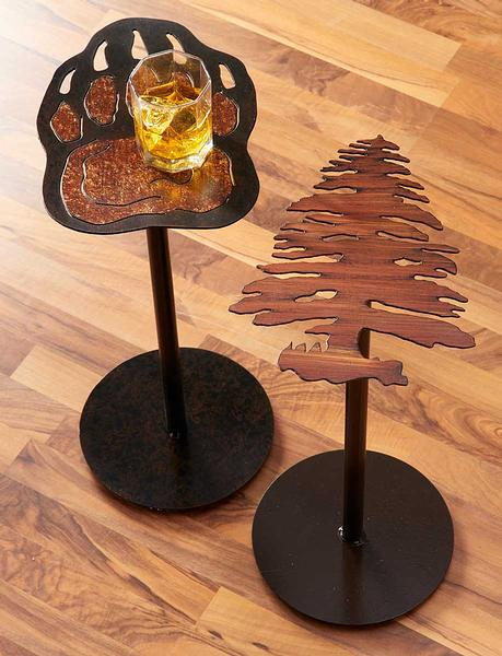5177701575IG: Bear Paw & Tree Side Table Collection