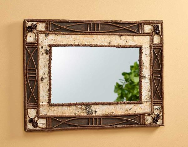 5181072509: Birch & Twig Mirror