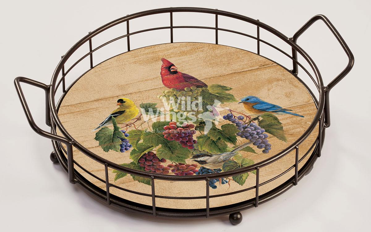 4209102006: Birds and Grapes Serving Tray