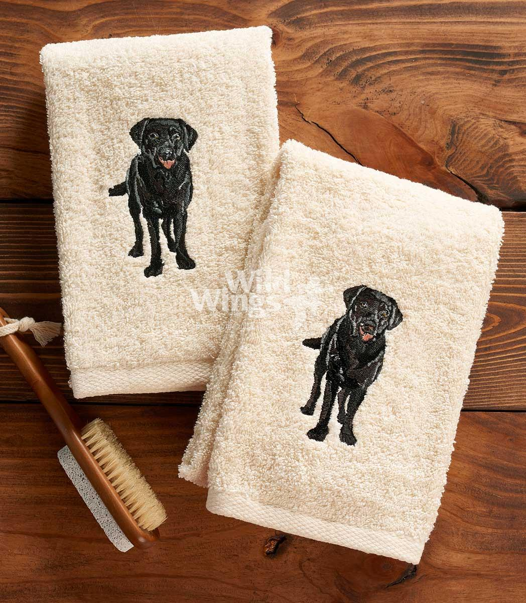 4060146256: Black Lab Hand Towel (Set of 2)