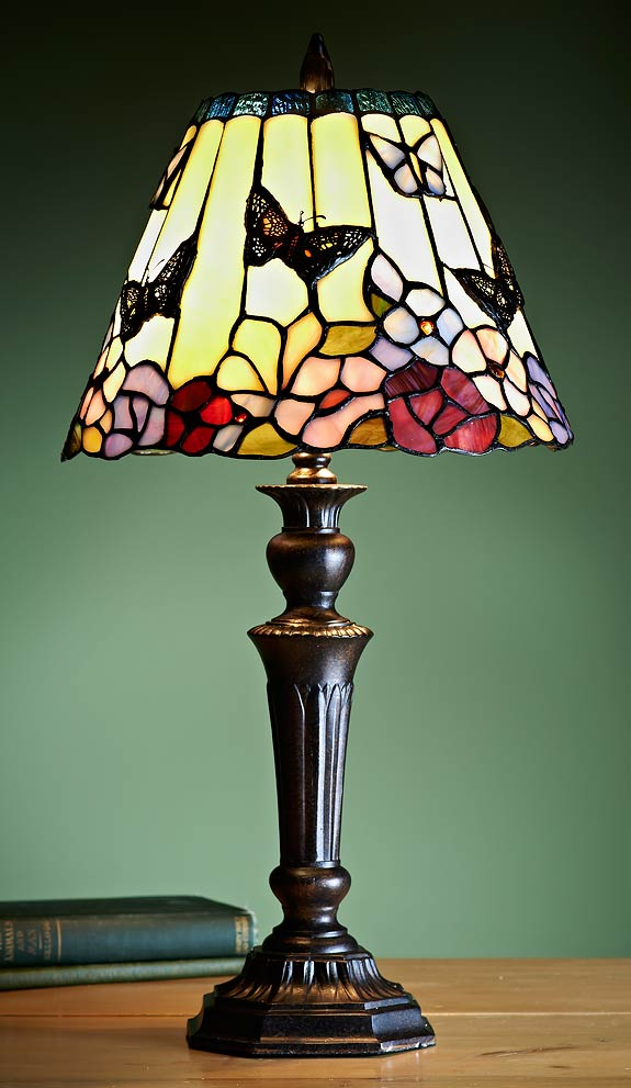 5192078501: Butterfly Tiffany Table Lamp