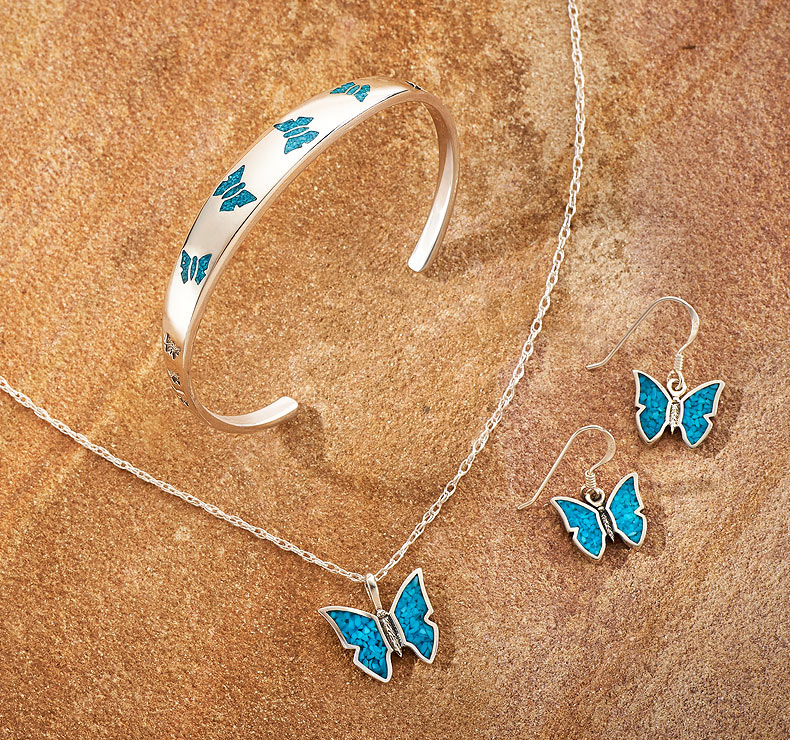 7762078500IG: Turquoise Butterfly Jewelry Collection