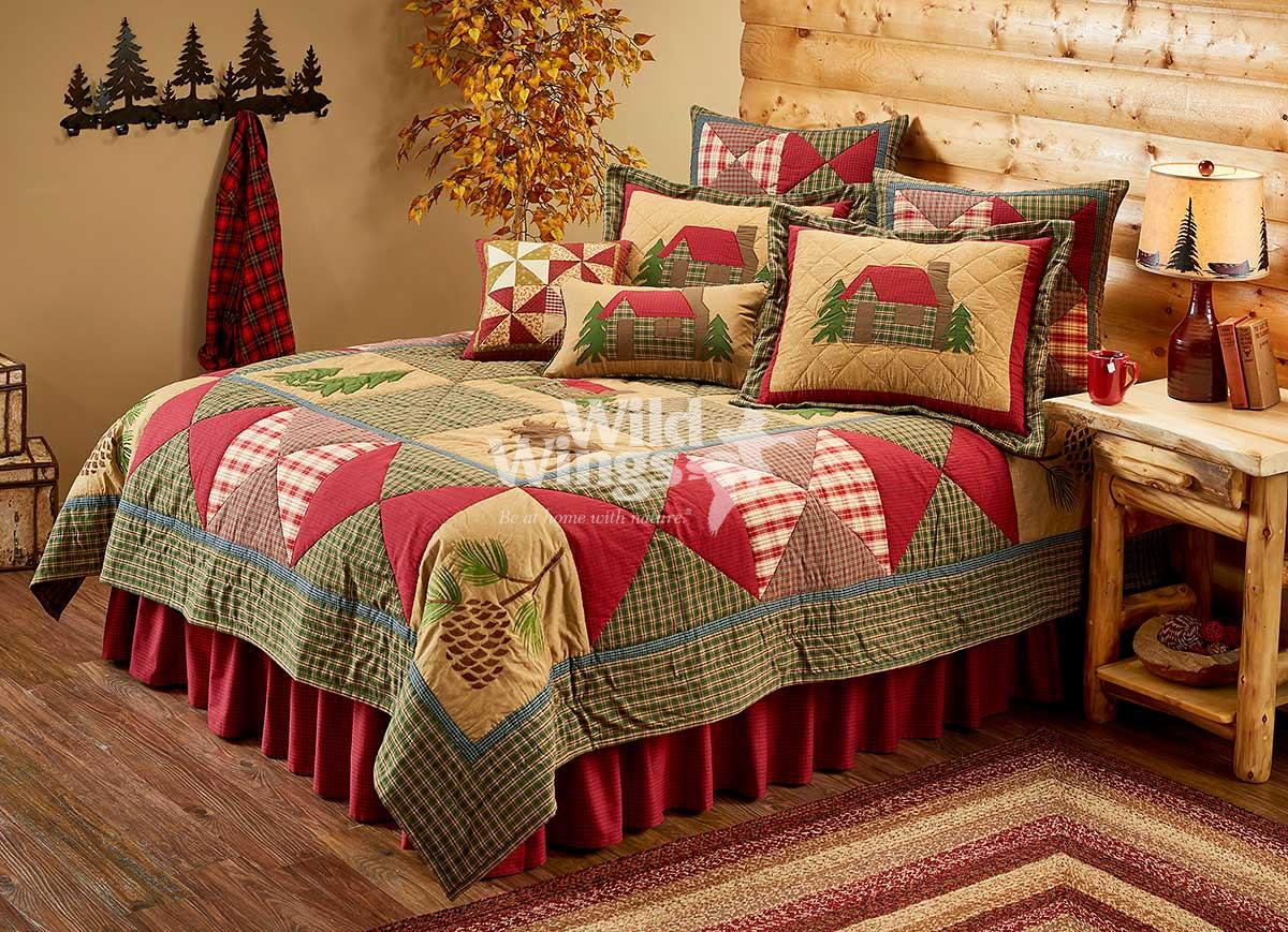 46620877SS: Plaid Cabin Bedding Collection