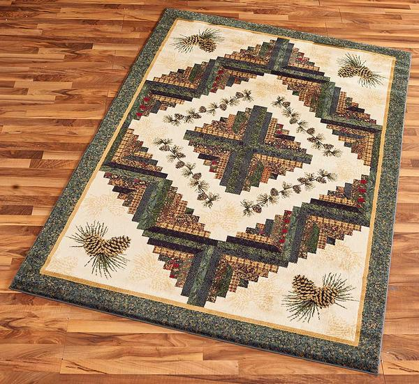 48850891SS:Pinecone Patchwork Area Rug Collection