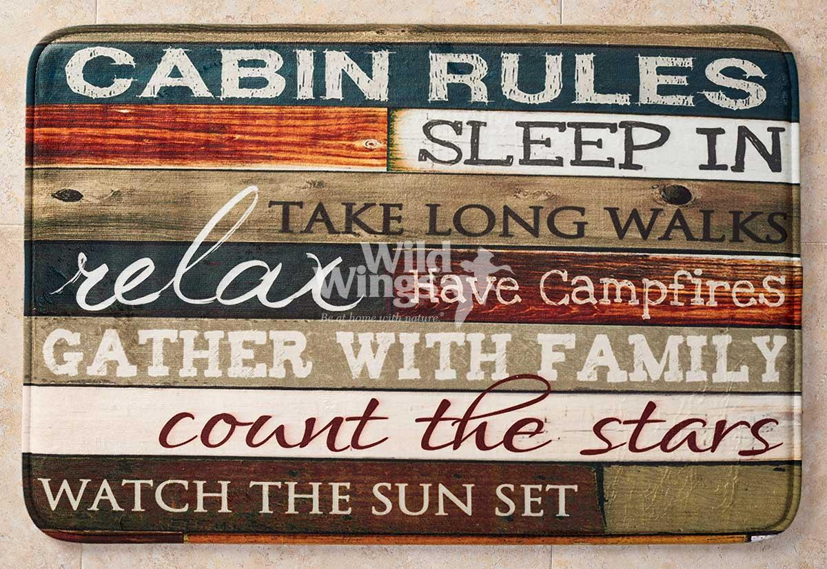 4423057504: Rules of the Cabin Bath Mat (30