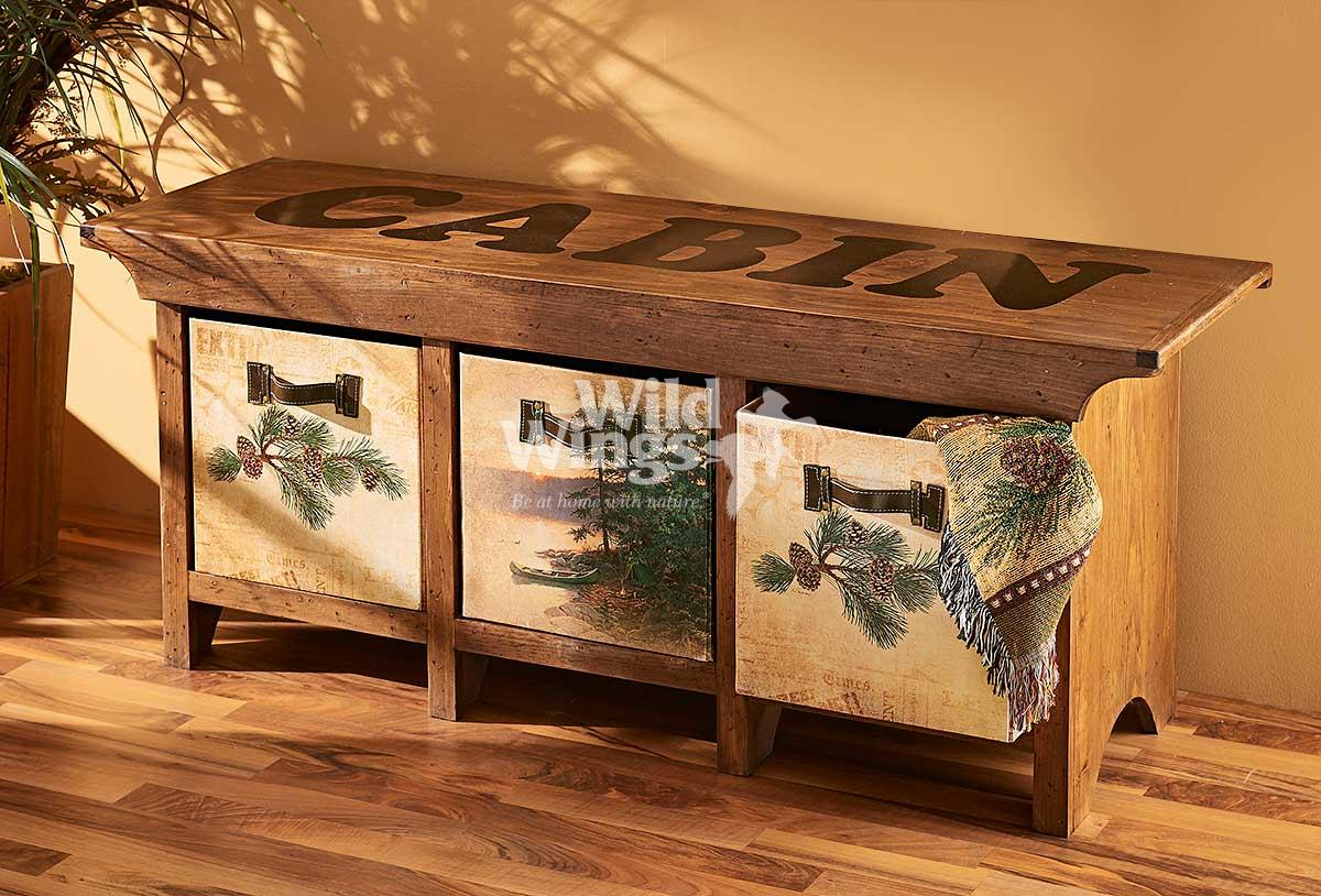 5946057701: Cabin Bench Storage Bench