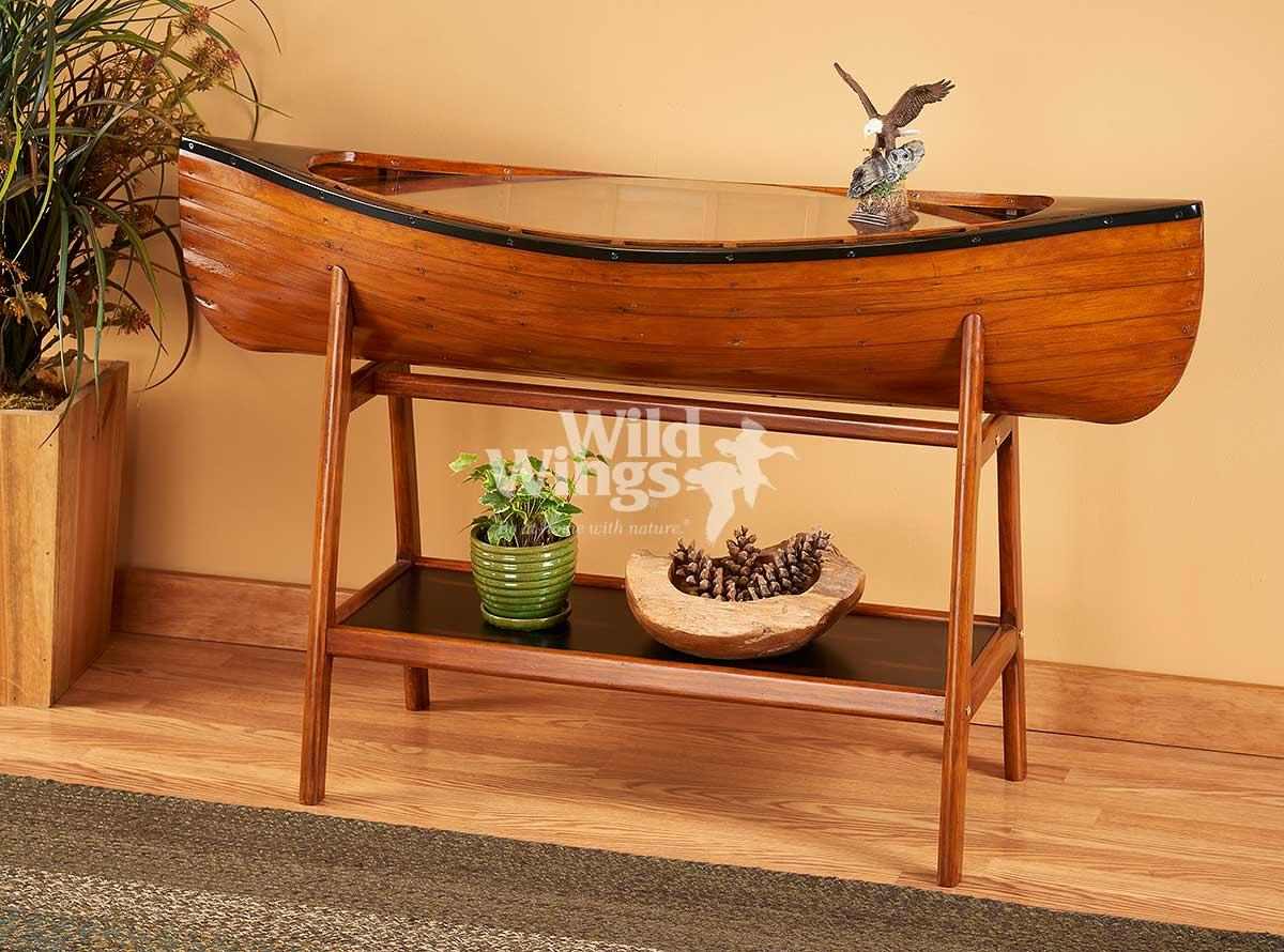5425087702: Handcrafted Canoe Side Table