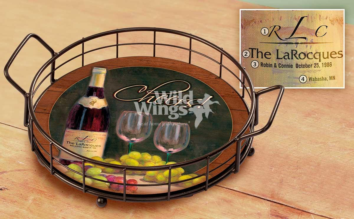 4209102004P:Cheers! A Toast to Tuscany Personalized Serving Tray