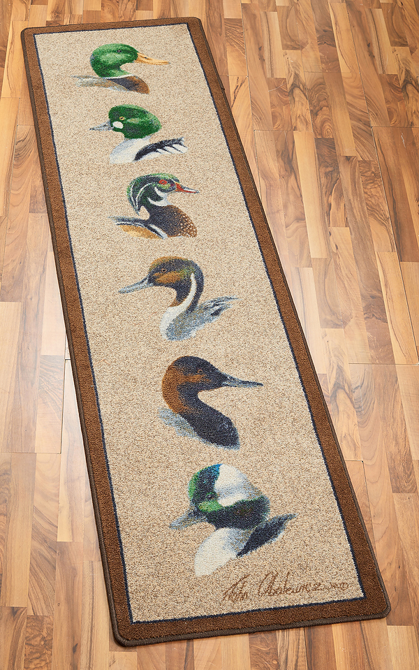 4310159901: Chesapeake Bay Ducks Area Rug (8' x 2')