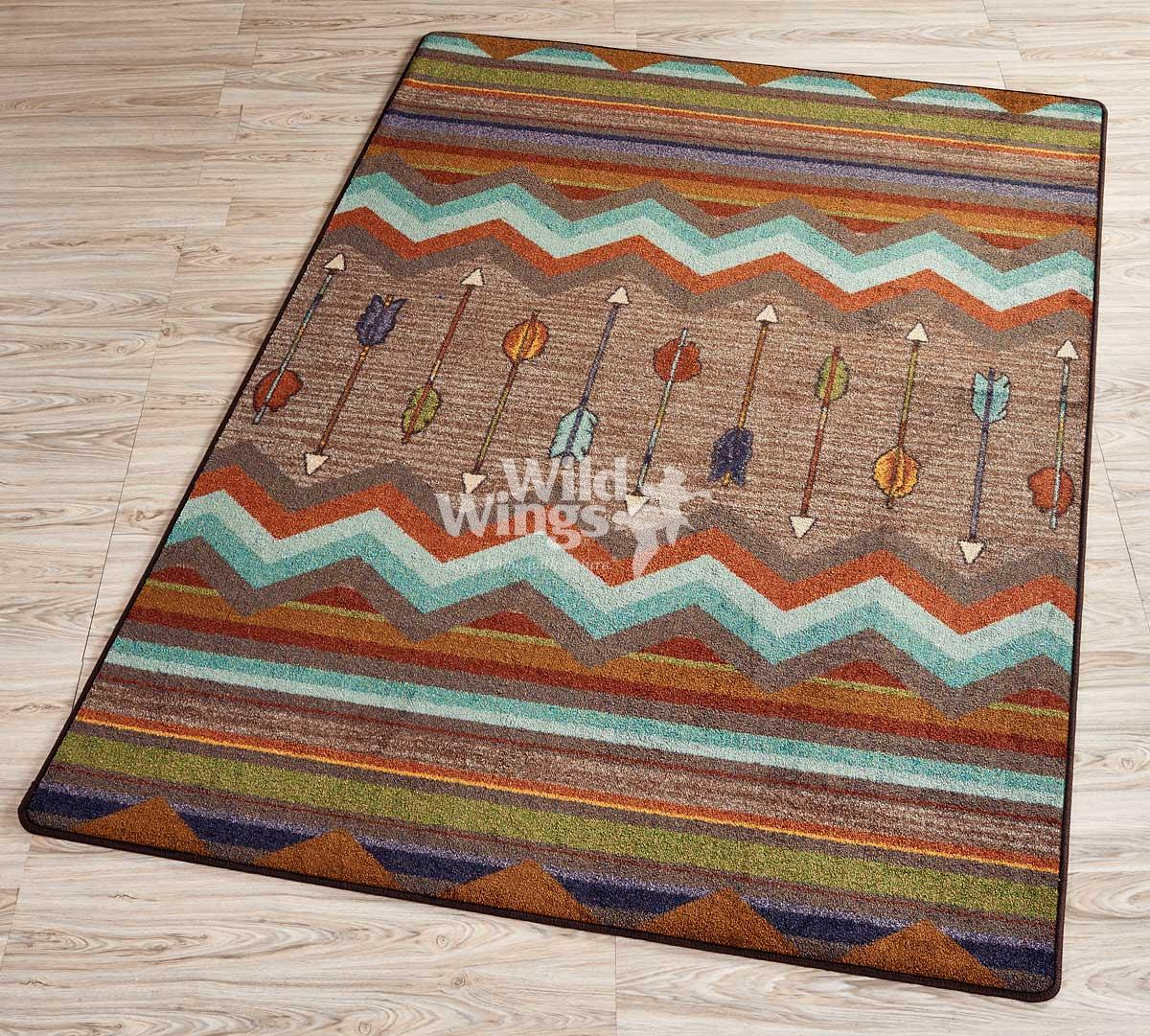 40821184SS: Arrow Fletching Area Rug Collection