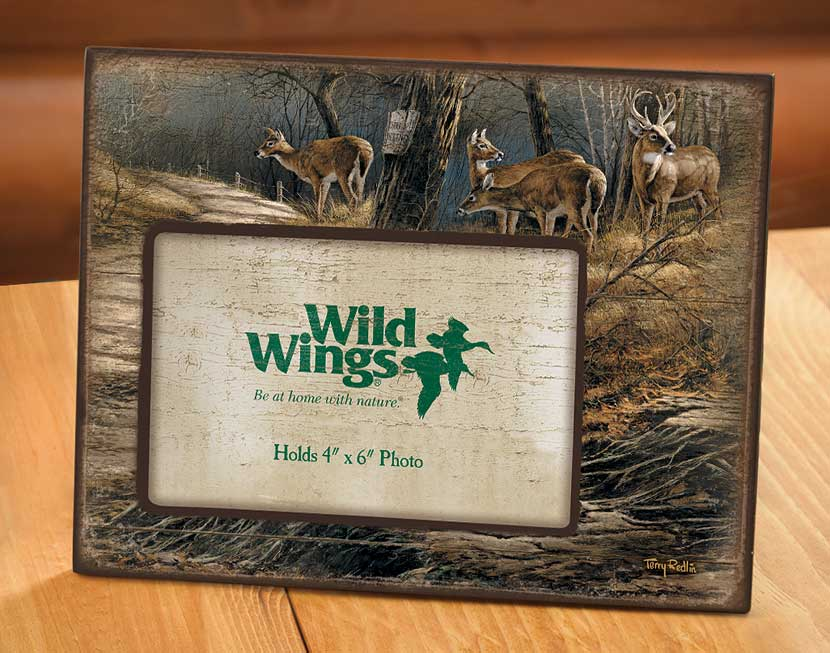 4373232009:Leaving the Sanctuary—Deer Scenic Picture Frame