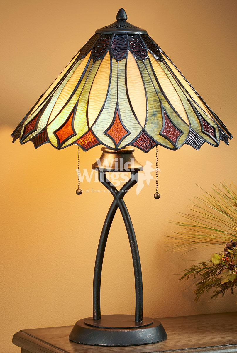 5200138201: Diamond Tiffany Table Lamp