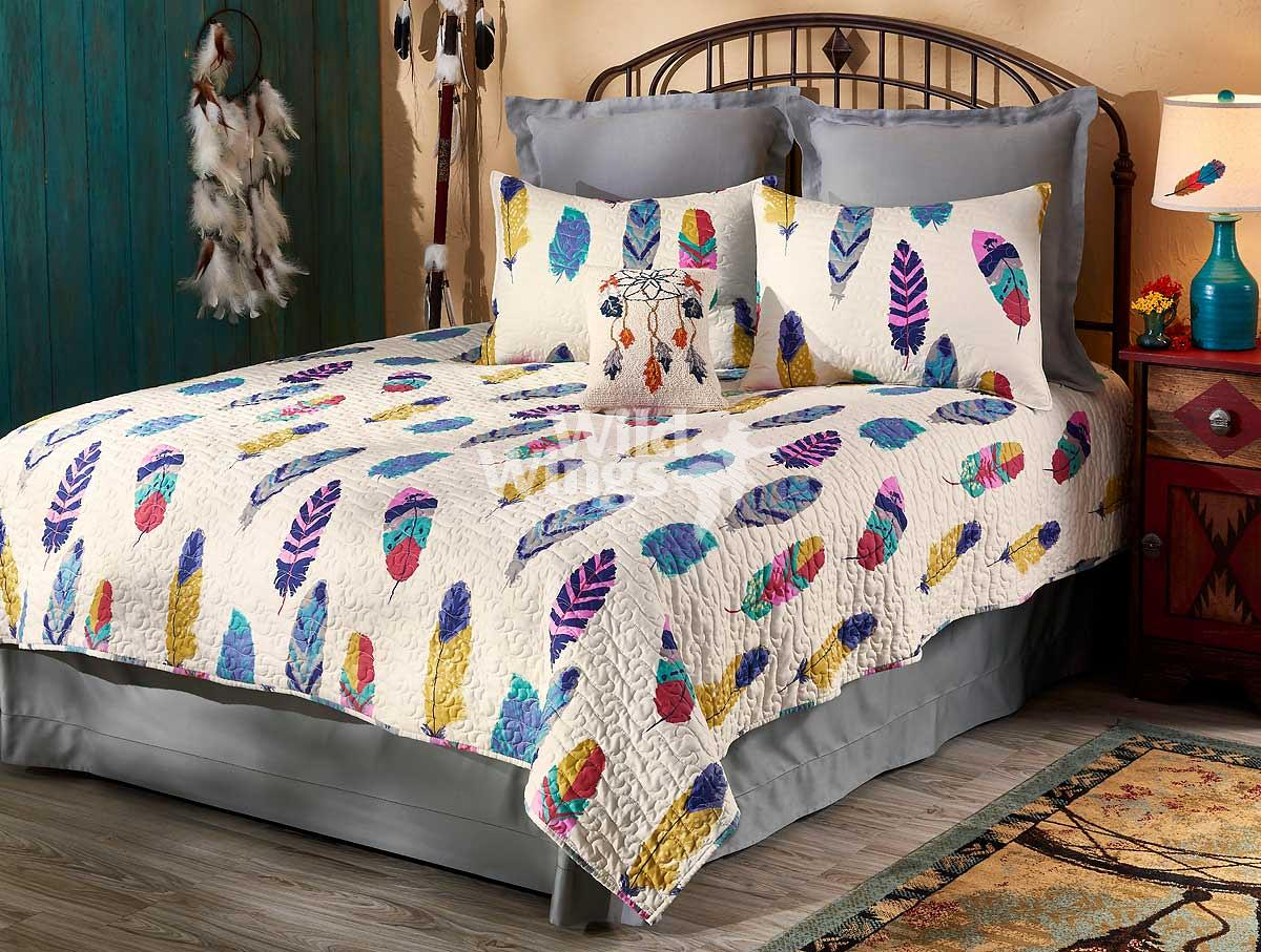 44002182SS: Dream Catcher—Feathers Bedding Collection