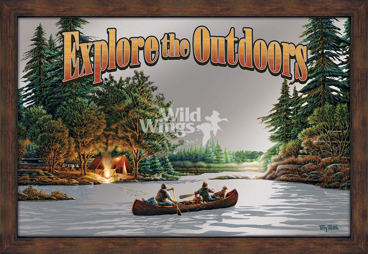 5386493023:&nbsp;<i>Explore the Outdoors;&nbsp;</i> Large Advertising Mirror