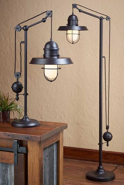 58022080SS: Farmhouse Table & Floor Lamp