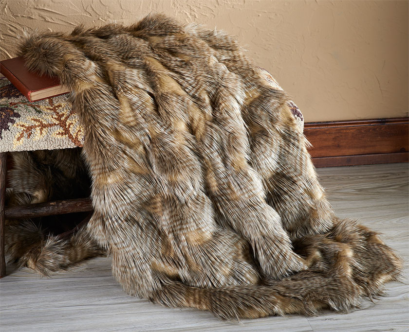 4987761501: Pheasant Feathers Throw Blanket