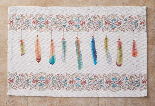 4423218202: Feathers Bath Mat (22-1/2