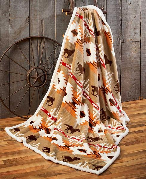 4140238105: Roaming Free Throw Blanket