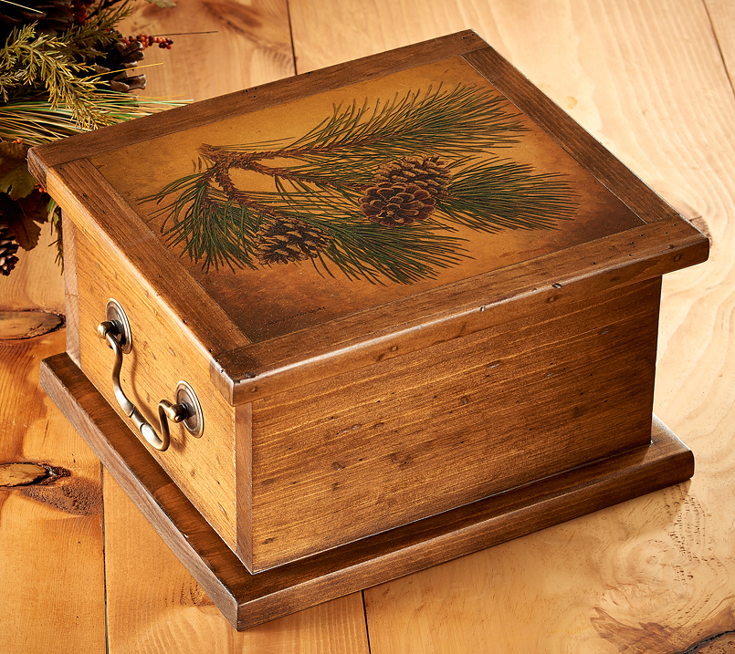 5946011591: Fruits of the Pine—Pinecone Keepsake Box