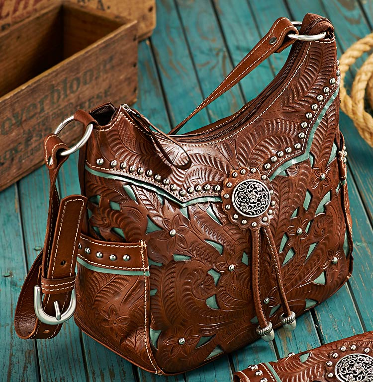 4030441501: Western Leather Handbag