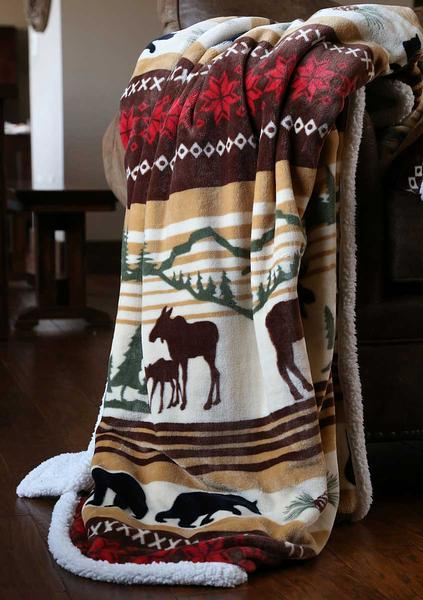 4140291505:Tranquil Cabin Throw Blanket