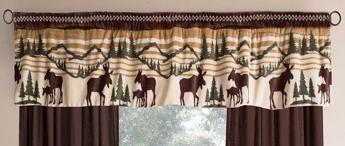 4140291504: Tranquil Cabin Valance