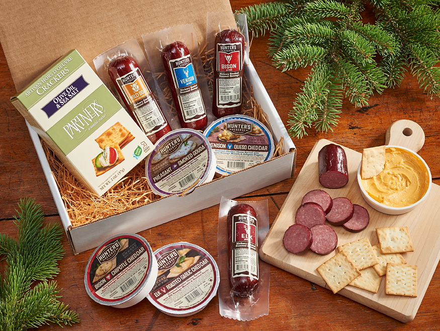 4292718520: Sausage, Cheese & Crackers Gift Box