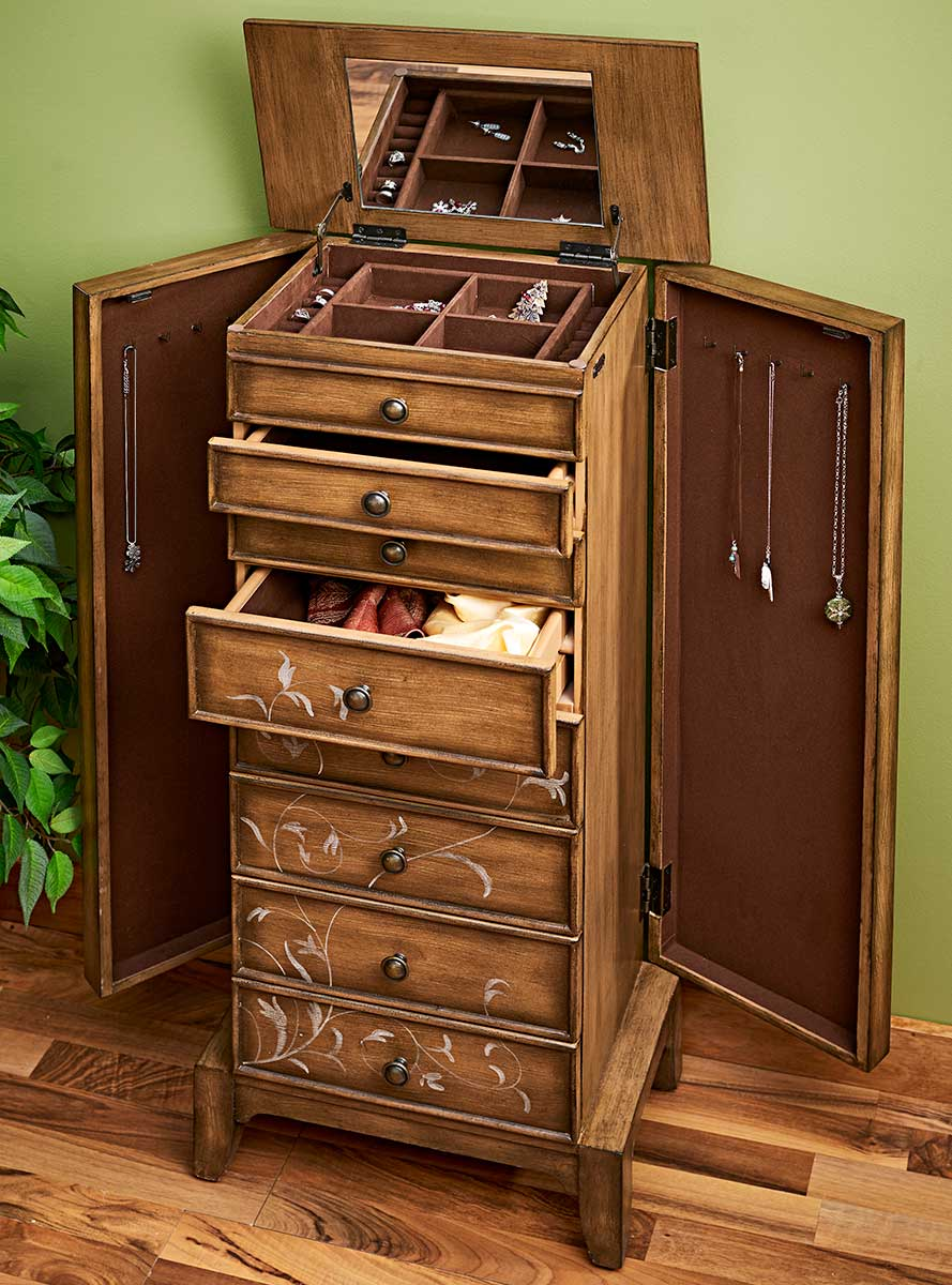 5802371501: Treasure Trove Jewelry Box Cabinet