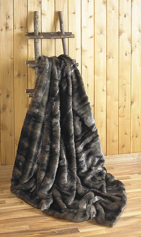 4140697707: Bear Faux Fur Throw Blanket