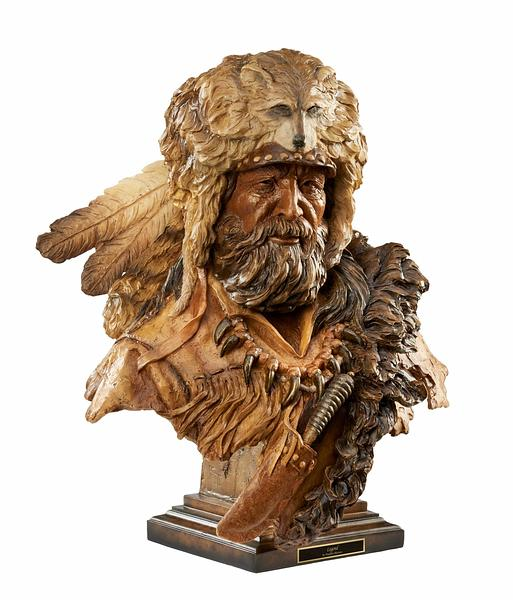 6567444984:&nbsp;<i>Legend&mdash;Mountain Man;&nbsp;</i> Sculpture